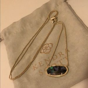 Kendra Scott abalone adjustable necklace